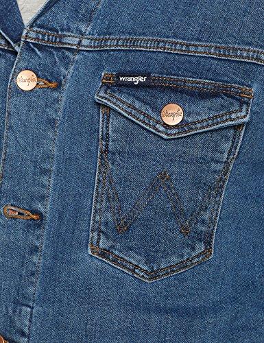 Jacket 091 Blu Giacca Wrangler Uomo midstone Regular 75FgxnnwqO