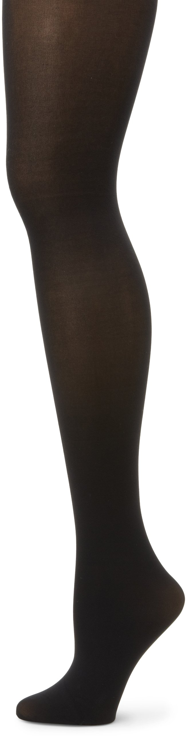HUE Women's 3-Pack Opaque Control Top Hosiery, Black, Size 2