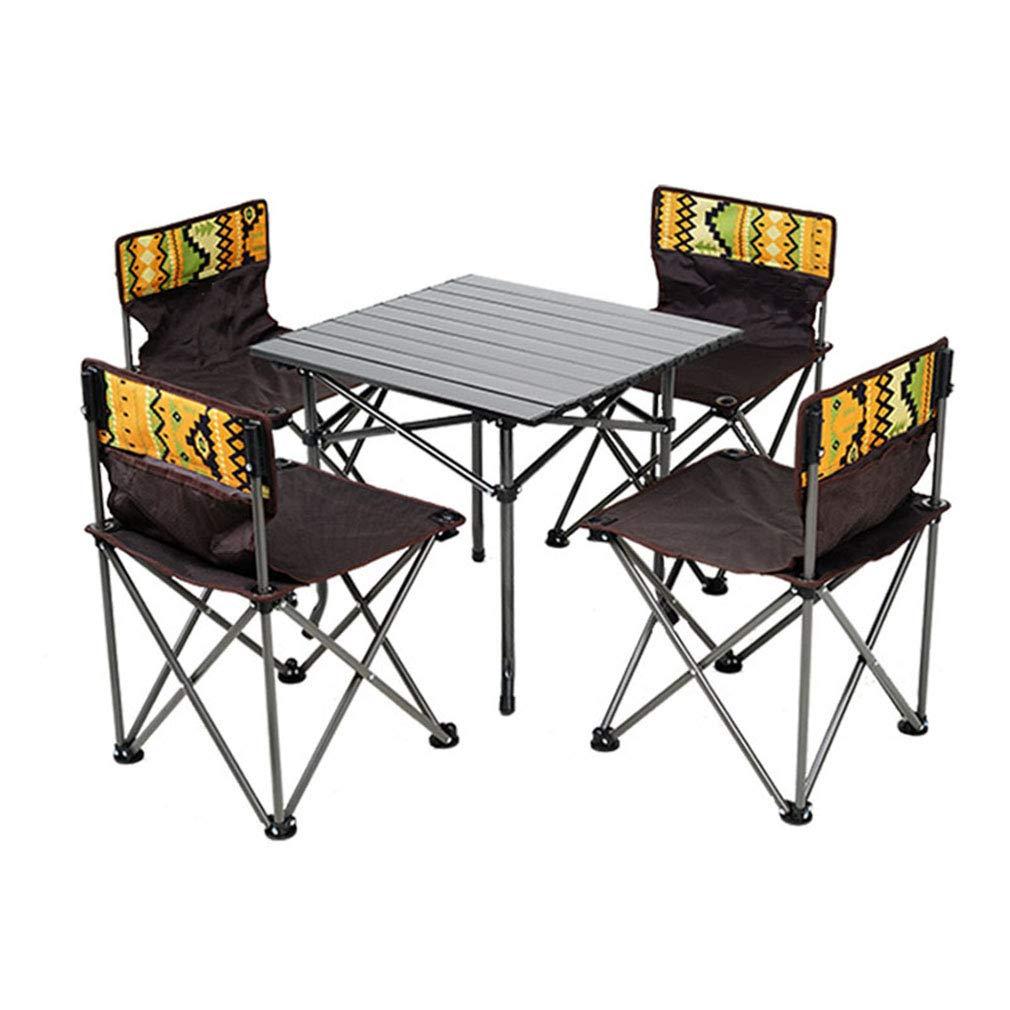 Amazon Com Xue Bai Outdoor Folding Table Chair Set Portable