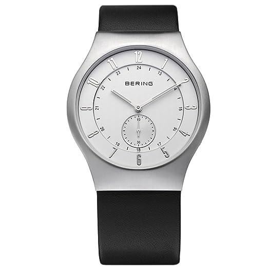 BERING Reloj Analógico para Hombre de Cuarzo con Correa en Cuero 51940-470: Amazon.es: Relojes