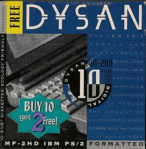 DYSAN MF-2HD, IBM PS/2 3-1/2'' Double Sided Floppy Disks by Dysan