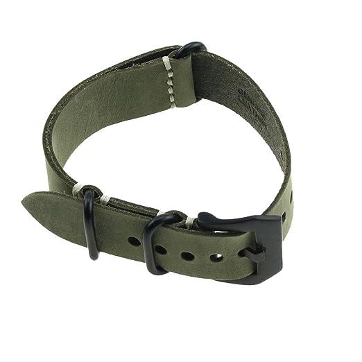 11 opinioni per Pelle Crazy Horse Ruggedly mano Caccia linea Lunghezza del cinturino verde scuro