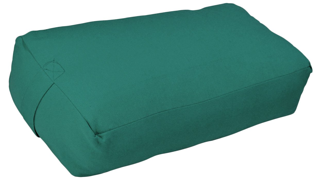 YogaAccessories Zen Cotton Meditation Pillow - Green