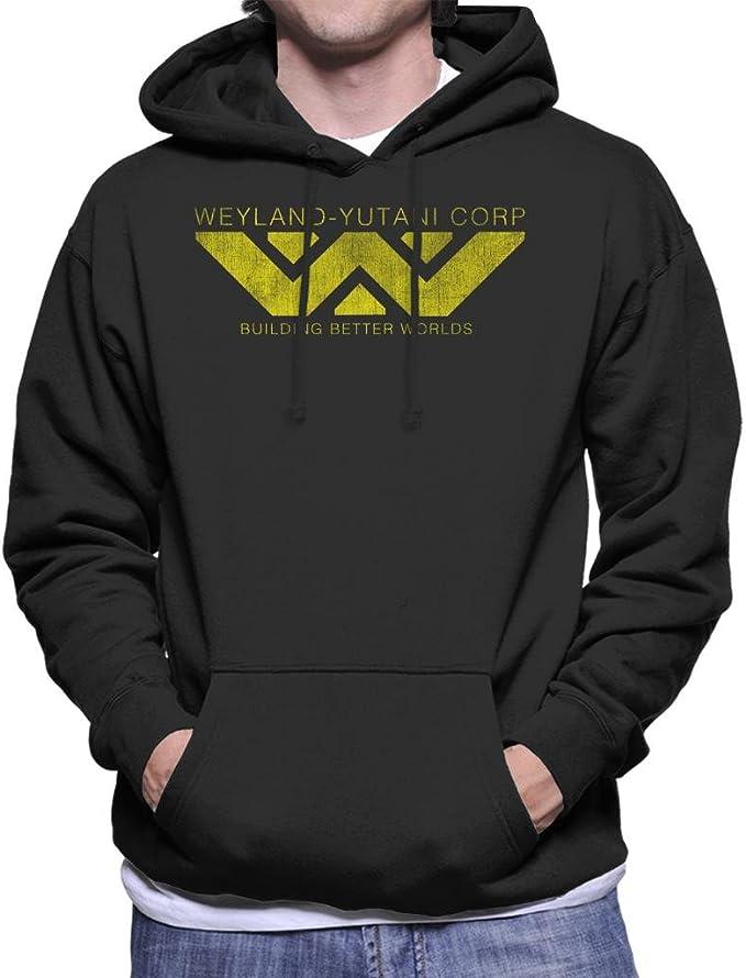 Cloud City 7 Weyland Yutani Corp Logo Alien Building Better Worlds Mens Hooded Sweatshirt