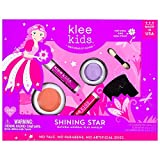 Klee Kids Natural Mineral Makeup 4 Piece Kit with Pressed Powder Compacts (Shining Star)