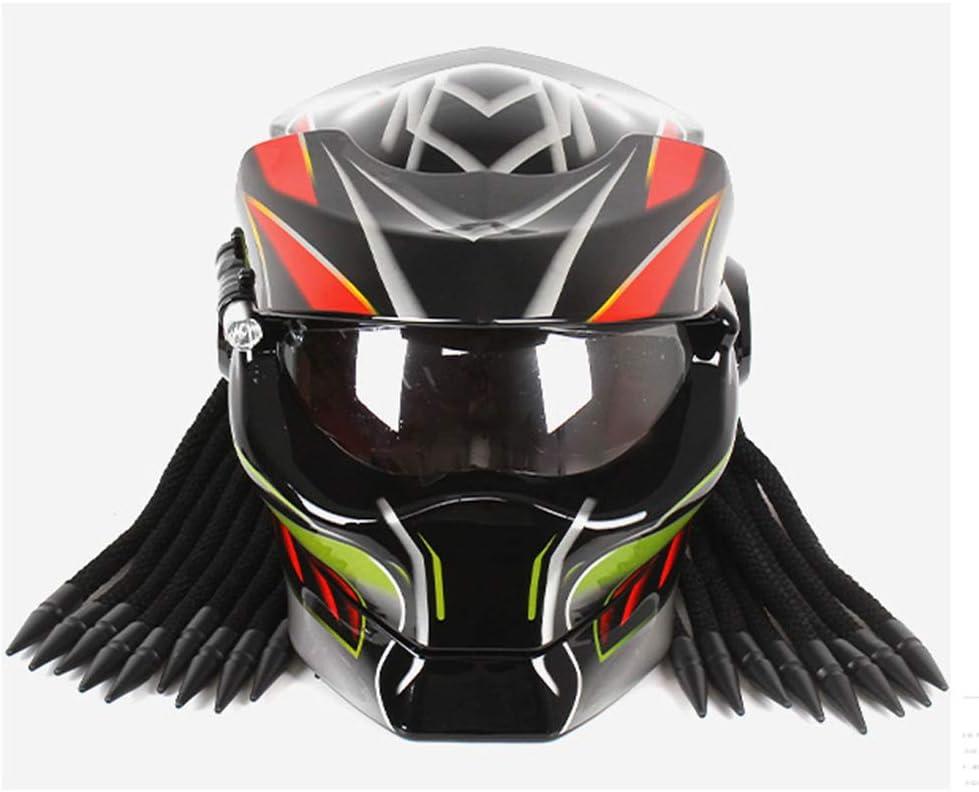 Four Seasons Universal,Brightblack,M55~56cm ECE-Standardhelm Cooler Predator Motorradhelm,Vollvisierhelm F/ür Erwachsene,DOT