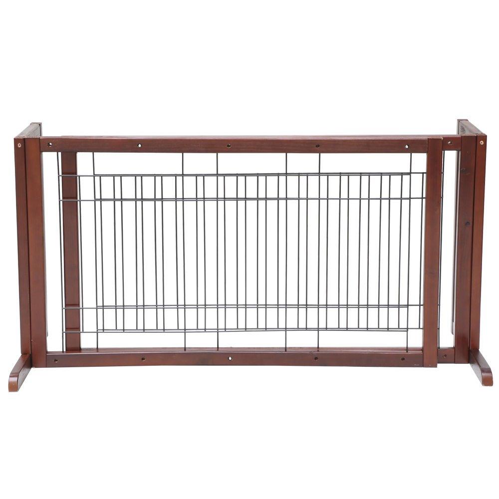 Tek Widget Adjustable Free Standing Indoor Dog Wood Gate/Fence by Tek Widget (Image #2)