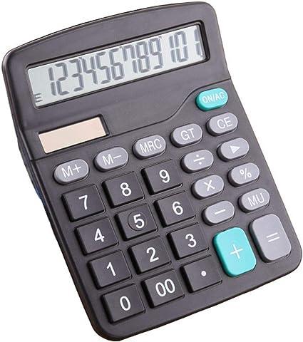 Dual Power Solar /& Battery 12 Digits Calculator Desktop Desk O5A1 Buttons L4J8