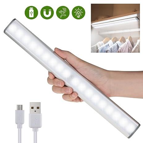 Motion Sensor Light Under Cabinet Lights, Wireless Motion Activated Closet  Lights, USB Rechargeable Stick