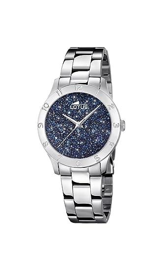 Lotus Watches Reloj Análogo clásico para Mujer de Cuarzo con Correa en Acero Inoxidable 18569/