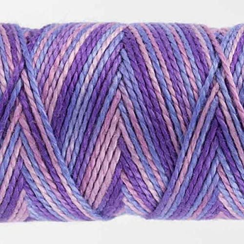WonderFil Specialty Threads Sue Spargo Eleganza 2-ply #8 Perle Cotton Variegated Plush Lilac #36