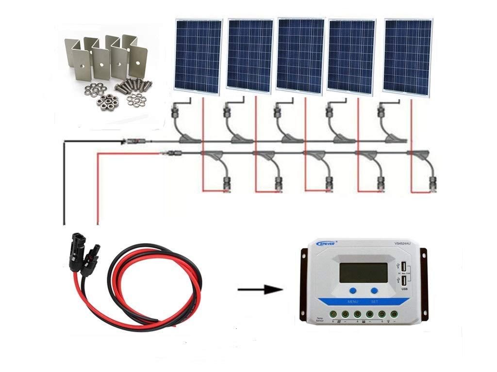 最適な材料 SAYA ソーラーパネル500Wモジュール100w18v5枚 12/24V 45A 12/24V コントローラー付き SAYA 500wオフグリッドシステム B07GXXHZV5 B07GXXHZV5, リブウェル:bcb63e9e --- itourtk.ru