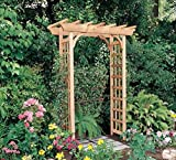 84'' Natural Cedar Outdoor Wooden Rosedale Arbor