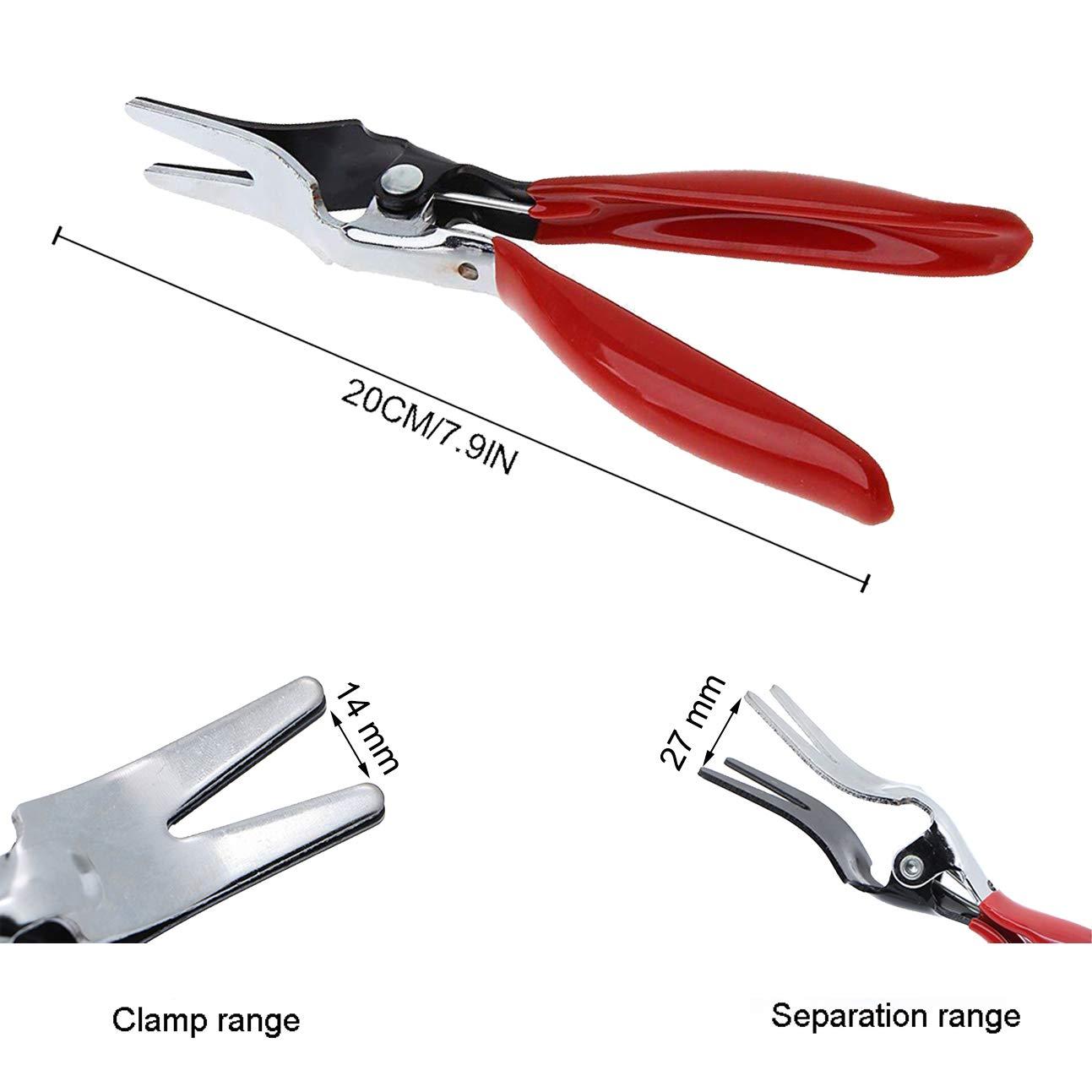 Automobile flessibile rimozione pinze borsa carburante e sacchetti linea tubo flessibile separatore di rimozione pinze strumento