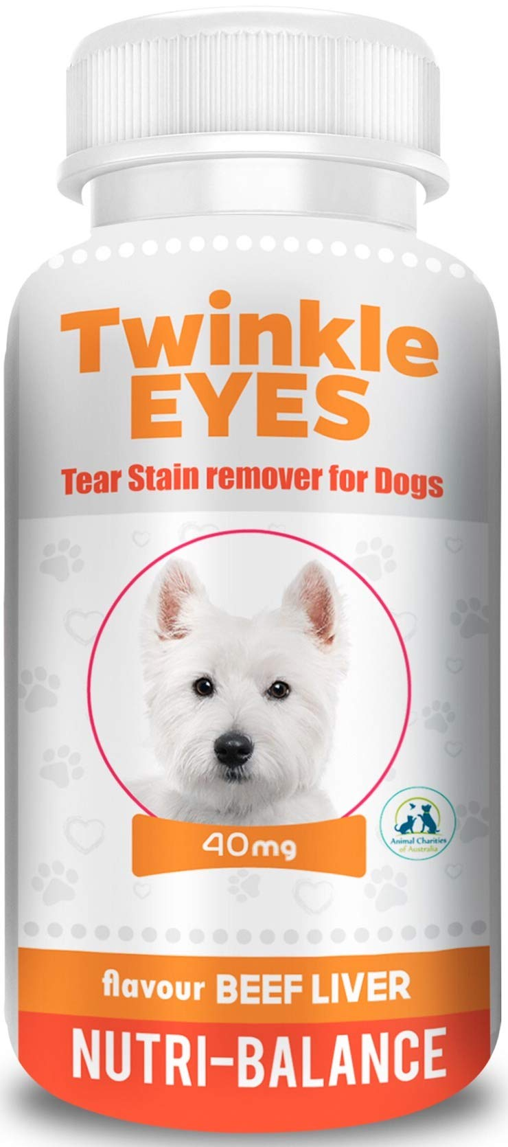 Twinkle Eyes Tear Stain Remover for Dogs - Beef Liver 40g by TWINKLE EYES