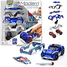 Modarri R1 Roadster Blue | STEM Educational Toy Cars | Make a Model car - Design Your own Working Race Cars | Fun and Functional Building Toys for Kids | Girls and Boys Gifts Age 5-10