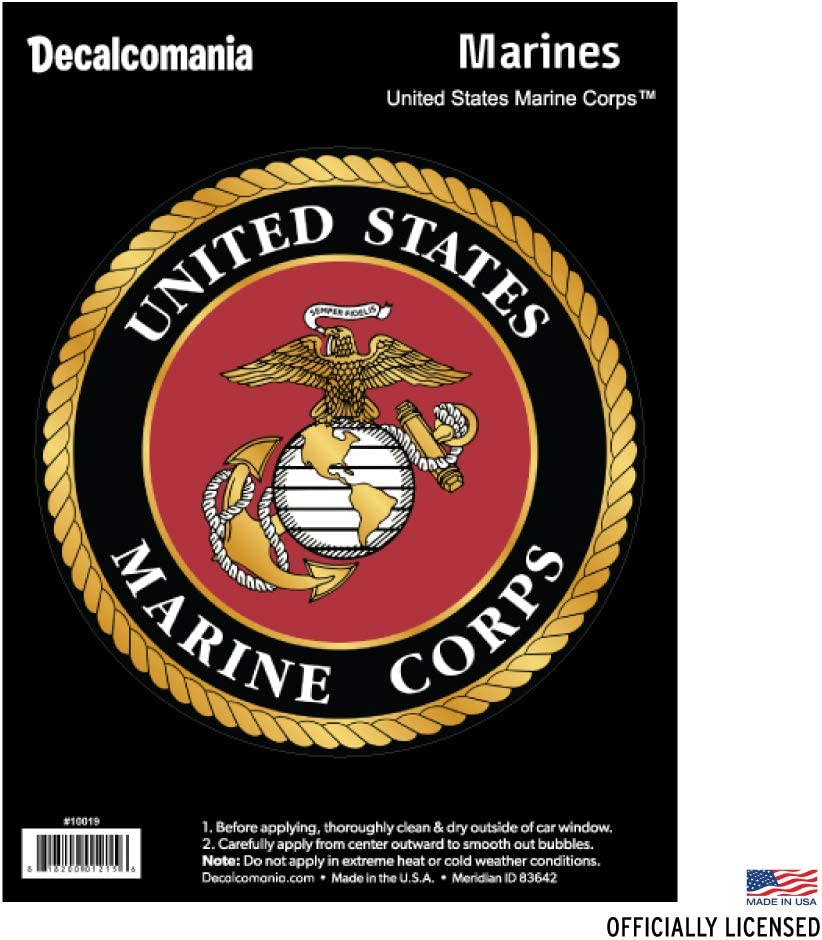 Marines Insignia Wall Window Vinyl Decal Sticker Military U.S