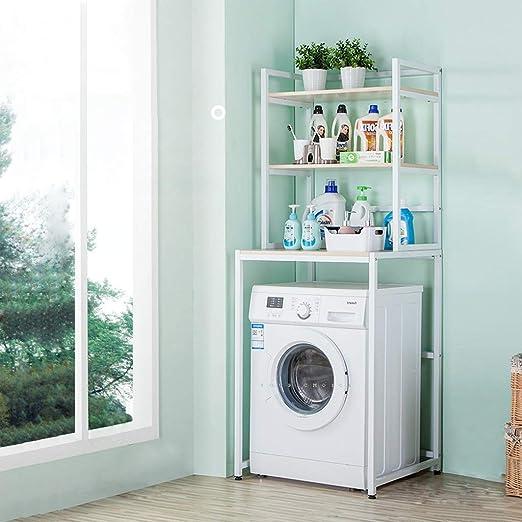 Rack de almacenamiento de 3 capas sobre la lavadora-Repisa de baño ...