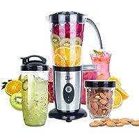 Blender Mixer Uten Smoothie Maker, jam, ice-crush, vruchtensap, vlees, hakmolen/impuls, elektrisch roestvrij staal…