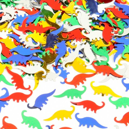 DINOSAUR CONFETTI PARTY TABLE DECORATIONS - 1.5 oz | Fun and Beautiful Decorations for Dinosaur Party Supplies | Dinosaur Party Table Decorations | Dinosaur Party Favors | Mix Colors | 1400 ct. (Fun Confetti)