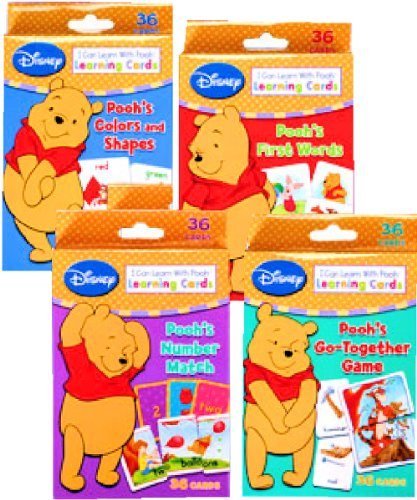 Pooh Memory Game (Disney Winnie the Pooh Learning Cards (Set of 4 Decks))