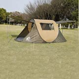Hewolf Pop up Tent 4-Person Ultralight Instant Setup Tent Automatic Portable Family Camping Tent 2 Person Waterproof Lightweight Beach Tent Folding Sun Shelter Fast Pitch