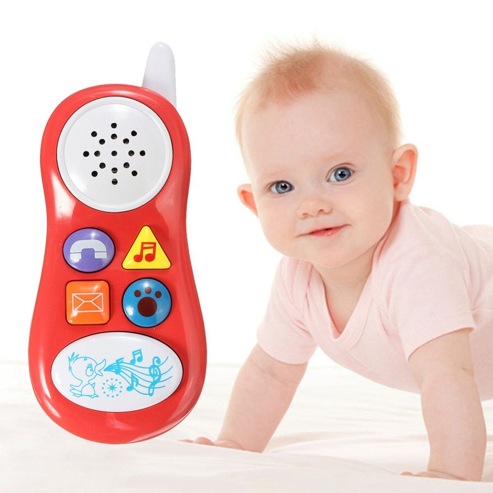 1 Pcs Baby Kids Learning Study Musical Sound Cell Phone Toys Children Educational Toys Mobile Phones Learning Toy Random Color