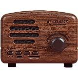 ブルートゥーススピーカートラベルポータブルレトロクリエイティブギフト小型スピーカーワイヤレススマートとラジオ機能(ブラウン)