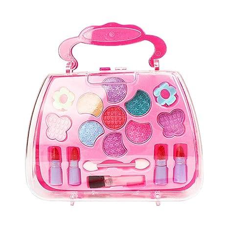 Wildlead Conjunto de Herramientas de Maquillaje Princesa Toys Girl Conjunto de Kit de simulación cosmética Maleta