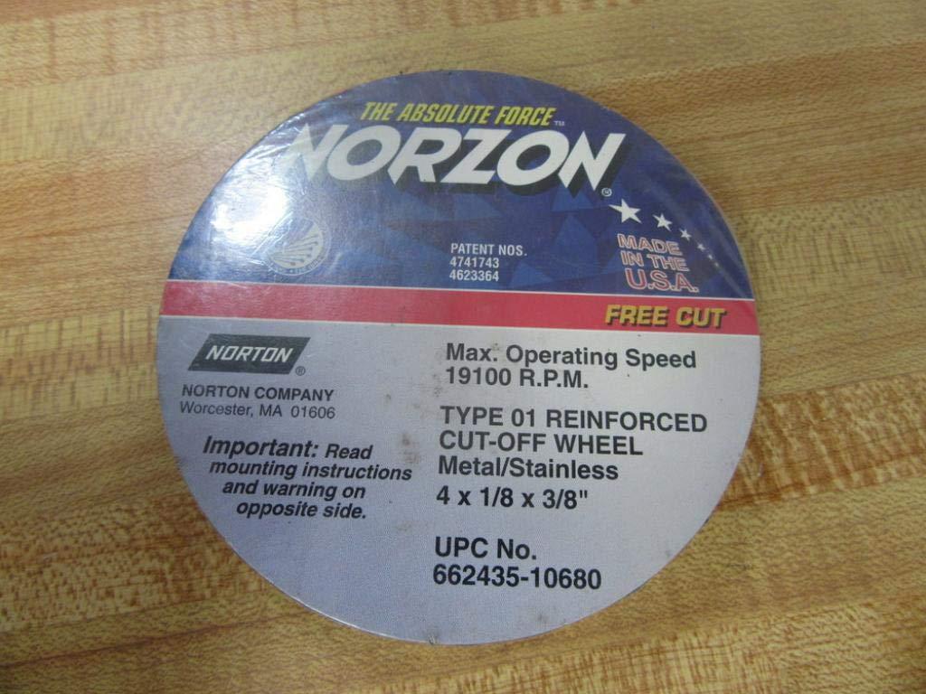 Norton 66243510680 Cut-Off Wheel 4'' x 1/8'' x 3/8'' (Pack of 5)