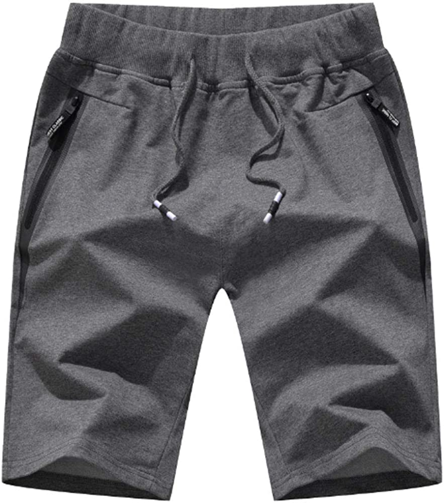 Men's Shorts Casual Classic Fit Drawstring Summer Beach Shorts with Elastic Waist and Pockets