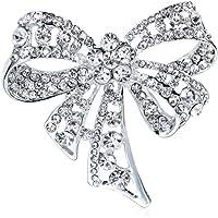gotyou Diamond Broche Rhinestone Bow Boutonniere,Broche Vintage Bowknot Broche para Mujer,Broches Diadema Decorada,Ropa…