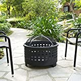 Cheap Crosley Hudson Basket Weave Firepit, Black