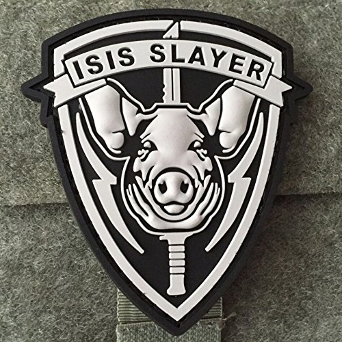 ISIS Slayer Morale Patch Pig - PVC Rubber Morale Patch Backed With Hook Velcro By NEO Tactical - Chicago Michigan St