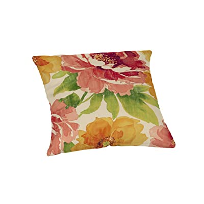 I_SL Square Muree Primrose Throw Pillow : Garden & Outdoor