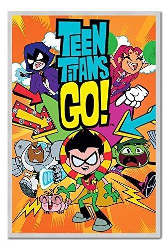 Teen Titans Go. Póster de la Pizarra magnética Plata ...