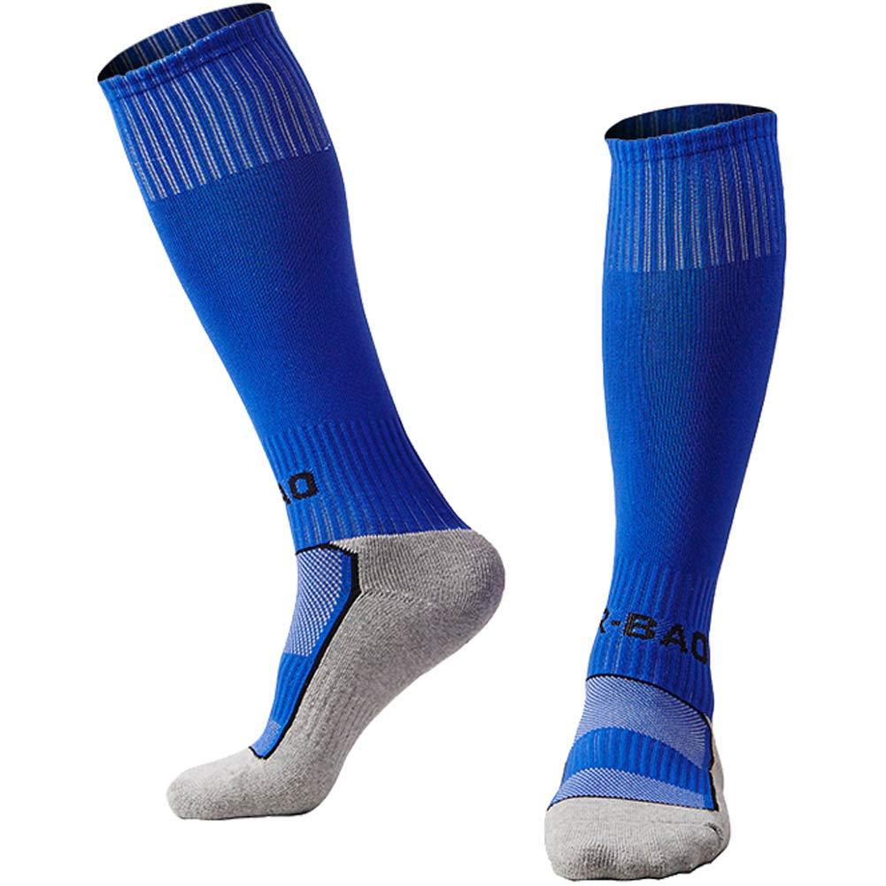 Quickshark Kids Soccer Socks/Youth Knee High Tube Socks/Boy Girl Towel Bottom Football Sport Long Socks(1 Pack-Blue) by Quickshark