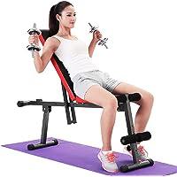 Halterbank Verstelbaar en Opklapbaar, Trainingsbank 5 Fitnessmodi, Fitnessbank Rugleuning:7 Standen Instelbaar…