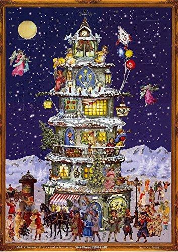 Victorian Tall House At Christmas German Advent Calendar