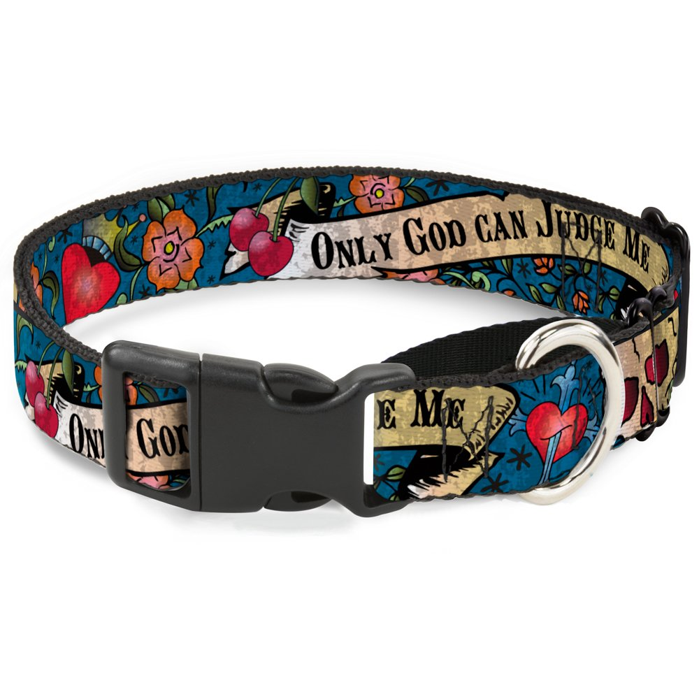 Buckle-Down MGC-W31501-S bluee Martingale Dog Collar, 1  Wide-Fits 9-15  Neck-Small