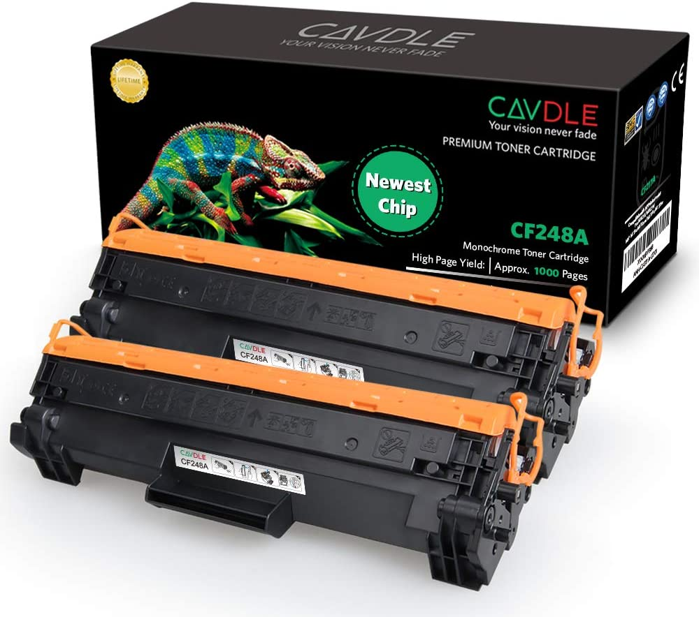 [Newest Chip] CAVDLE Compatible Toner Cartridge Replacement for HP 48A CF248A M29W M15W Toner for HP Laserjet Pro MFP M28w M28a M29w M29a M29 HP Laserjet Pro M15w M15a M16a M16w M15 Toner Ink Printer