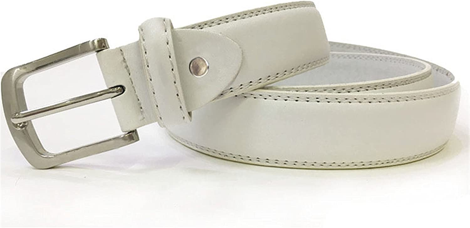 Rising ON Great Mens Luxury Waist Belts Man Designer Belts With Double Stitching More Color Simple Classic Belt