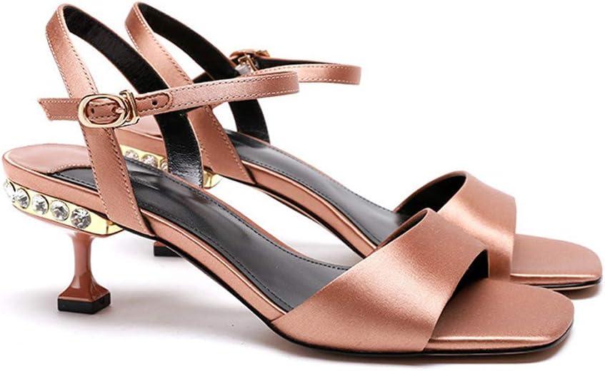 Malpyq Stiletto sandalen voor dames, zwarte woordgesp met stiletto-teenpunt, casual high heeldamessandalen zwart