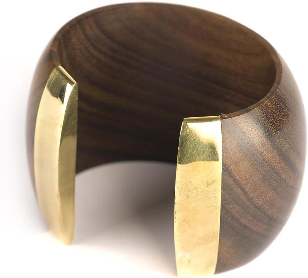 81stgeneration Womens Brass Gold Tone Rope Adjustable Bangle Cuff Bracelet