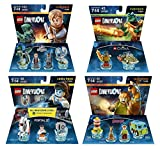 Portal 2 Level Pack + Scooby Doo Team Pack + Jurassic World Team Pack + The Legend Of Chima Cragger Fun Pack - LEGO Dimensions - Not Machine Specific