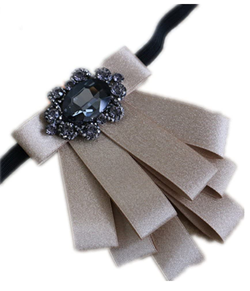 Crystal Ribbon Neck Ties Clothing Accessories Neck Bow knot for Party