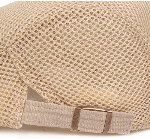 Wansan Polyester polychromatic mesh Beret Driver Cap Newsboy Hat for Men Women