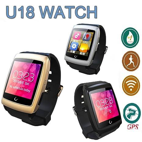 U18 Uwatch reloj inteligente Android 4.4 mtk6571 teléfono inteligente reloj de pulsera Bluetooth Smartwatch teléfono móvil