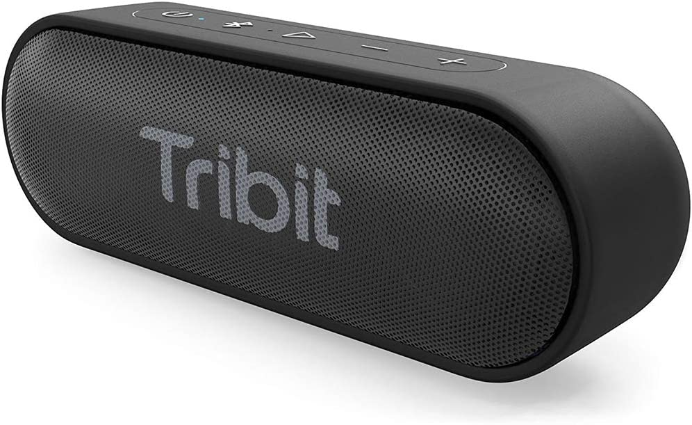 Tribit XSound Go Bluetooth Speaker – Speakers Bluetooth Wireless with Rich Bass, IPX7 Waterproof, 12W Powerful Sound, 24H Playtime, Portable Speaker with Built-in Mic 66 ft Bluetooth Range, Black
