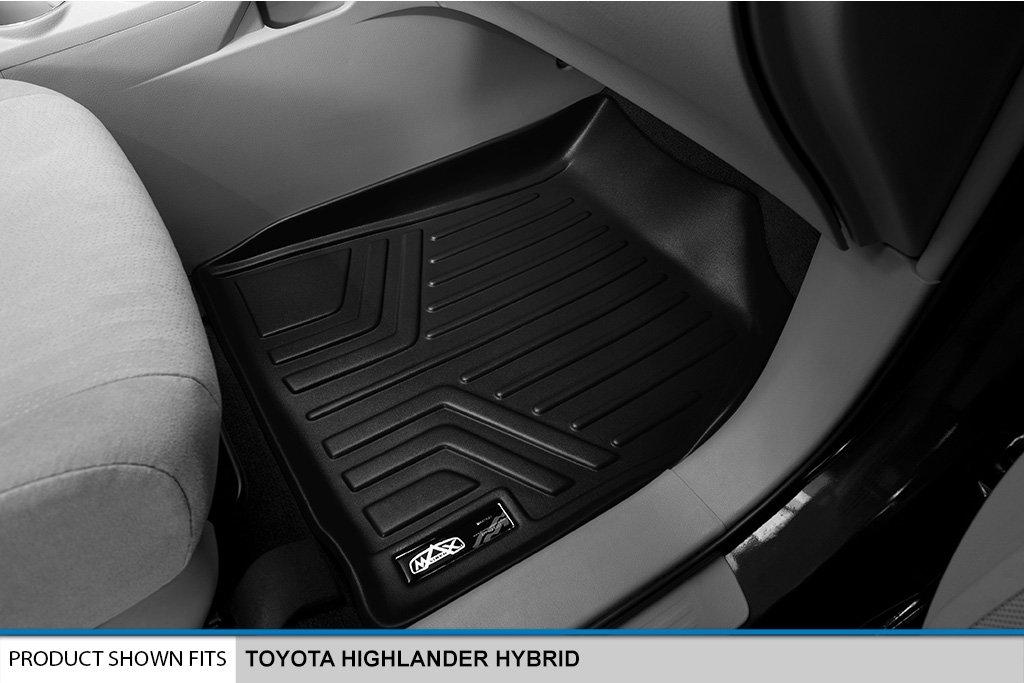SMARTLINER Floor Mats 3 Row Liner Set Black for 2008-2013 Toyota Highlander Hybrid Only